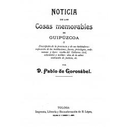 Noticia de las Cosas memorables  de Guipúzcoa