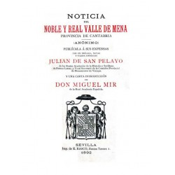 Noticia del noble y real Valle de Mena , provincia de Santander