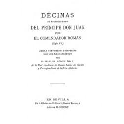 Décimas al fallecimiento del príncipe Don Juan por el comendador Román