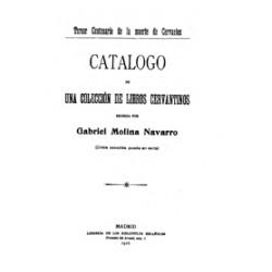 Catálogo de una colección de libros cervantinos