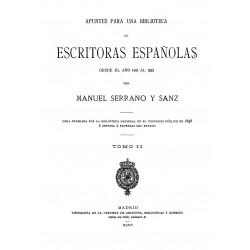 Apuntes para una biblioteca de escritoras españolas desde el año 1401 al 1833