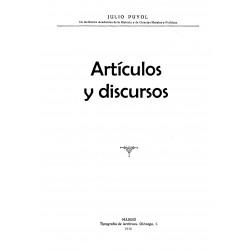Artículos y Discursos de Julio Puyol Alonso