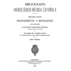 Bibliografía hidrológico-médica española