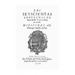Las seiscientas apotegmas y otras obras en verso de Juan Rufo