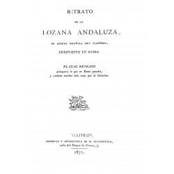 Retrato de la Lozana Andaluza en lengua española muy clarisima, compuesto en Roma