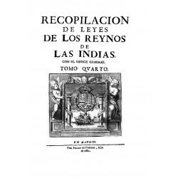 Recopilación de Leyes de los Reynos de las Indias