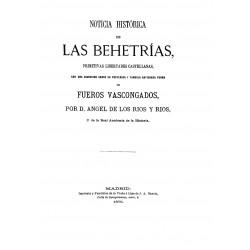 Noticia histórica de las behetrías