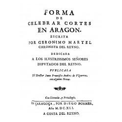 Forma de celebrar Cortes en Aragón