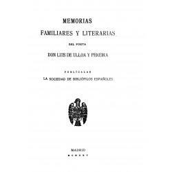 Memorias familiares y literarias del poeta D. Luis de Ulloa y Pereira