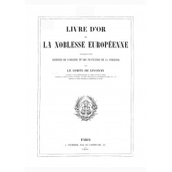 Livre d´or de la Noblesse Europeenne