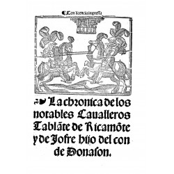 La chrónica de los notables cavalleros Tablante de Ricamonte y de Jofre hijo del Conde de Donason
