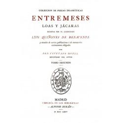 Colección de piezas dramáticas .Entremeses loas jácaras escritas por el Licenciado Luis Quiñones