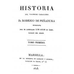 Historia del Valeroso caballero Don rodrigo de Peñadura