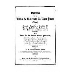 Historia de la villa de Valencia de Don Juan ( León)