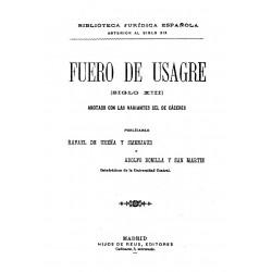Fuero de Usagre ( siglo XIII), anotado con las variantes del de Cáceres