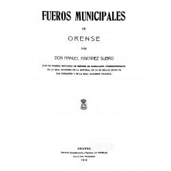 Fueros municipales de Orense