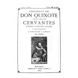 Ediciones de Don Quixote y demás obras de Cervantes