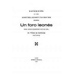 Exposición a las Cortes Constituyentes de un foro leonés