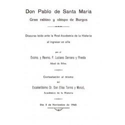 El Monasterio de Palacios de Benaber y Don Pablo de Santa María , gran Rabino y Obispo de Burgos
