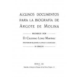 Algunos documentos para la biografía de Argote de Molina