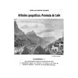 Artículos geográficos. Provincia de León