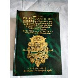 Historia de Antonio de Herrera criado de su Magestad