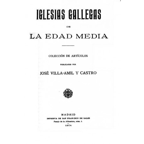 Iglesias gallegas en la Edad Media