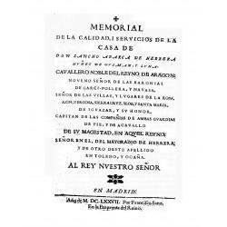 Memorial de la calidad y servicios de la casa de Don Sancho Abarca