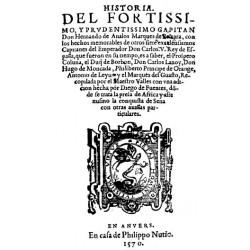 Historia del fortissimo y prudentissimo Capitan Don Hernando de Avalos Maroves de Pescara
