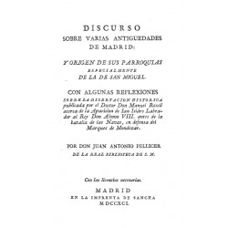 Discursos sobre varias antiguedades de Madrid