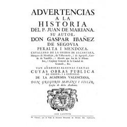Advertencias a la historia del P. Juan de Mariana--
