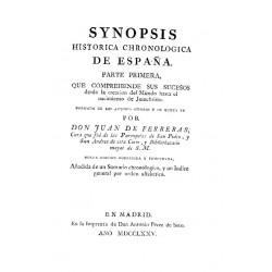 Synosis histórico cronológica de España