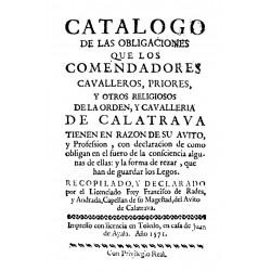 Catálogo de las obligaciones de los comendadores