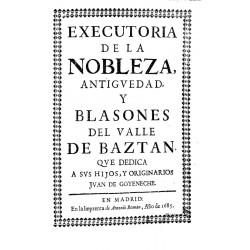 Executoria de la nobleza, antigüedad y blasones del valle de Baztán