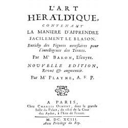L'art heraldique contenant la maniere dápprendere facilement le blason