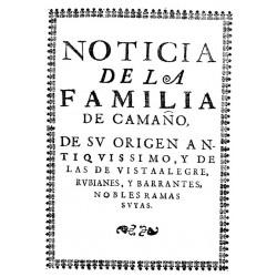 Noticia de la familia de los Caamaños