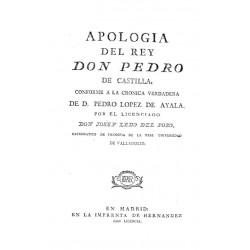 Apología del rey Don Pedro de Castilla