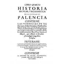 Libro quarto historia secular y eclesiástica de la ciudad de Palencia