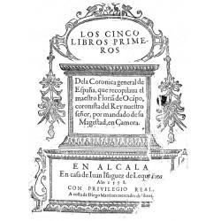 Los cinco primeros libros de la crónica general de España