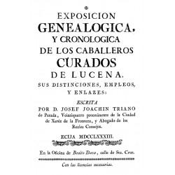 Exposición genealógica y cronológica de los caballeros curados de Lucena