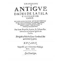 Grandezas y antigedades de la isla y ciudad de Cadiz