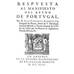 Respuesta al manifiesto del Reyno de Portugal