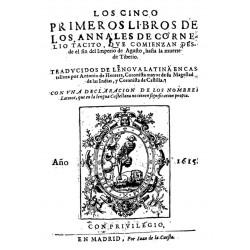 Los cinco primeros libros de los Annales de Cornelio Tacito