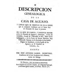 Descripción genealógica de la Casa de Aguayo
