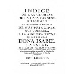 Índice de las glorias de la Casa Farnese