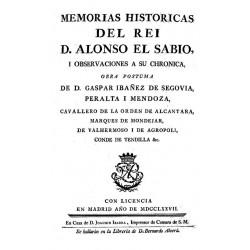 Memorias históricas del rey Don Alonso El Sabio