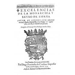 Excelencias de la monarquia y reyno de España