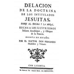 Delación de la doctrina de los intitulados jesuitas