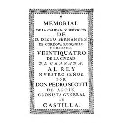 Memorial de la calidad y servicios de Don Diego Fernández de Córdoba y Ronovillo