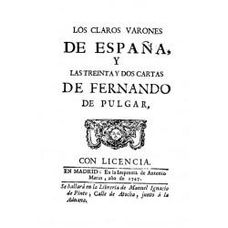Claros varones de España y 32 cartas